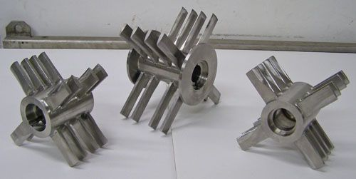 Fitzmill Parts -Used D6 Feed Screw Throats